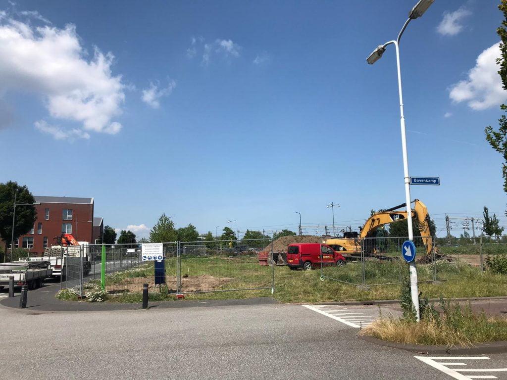 foto van de bouwvoorbereidingen